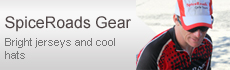 SpiceRoads Gear - Bright jerseys and cool hats